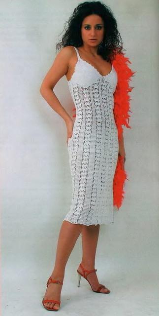 Платье На Бретелях Вязать 98