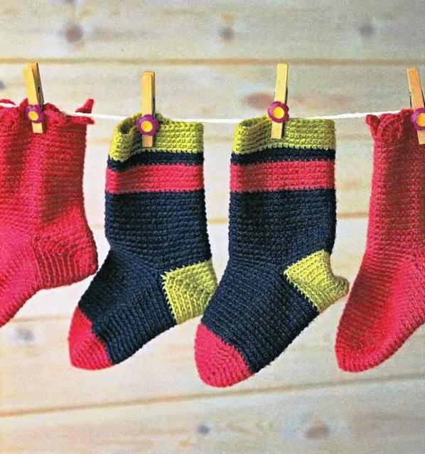 вязание носки крючком