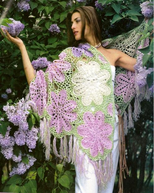 Шаль з квіткових мотивів