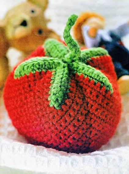 Вязаные помидоры схема