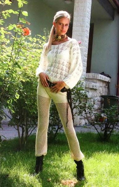 вязание крючком брюки