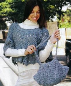 пелерина и сумочка