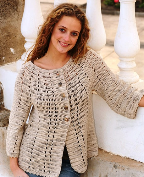Ажурный Бежевый Пуловер