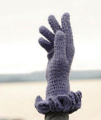 вязаные рукавицы, Платья вязаные крючком
