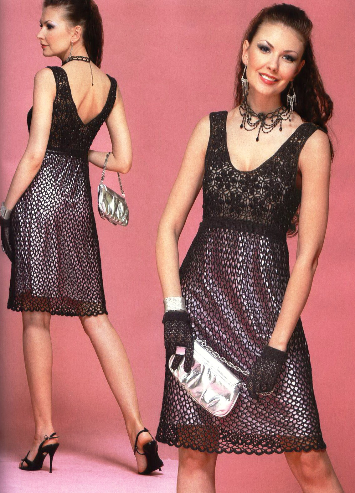 Схема вязание крючком платье