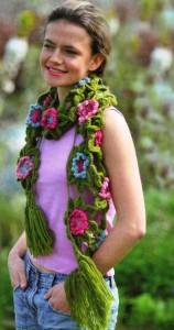 шарф из мотивов крючком