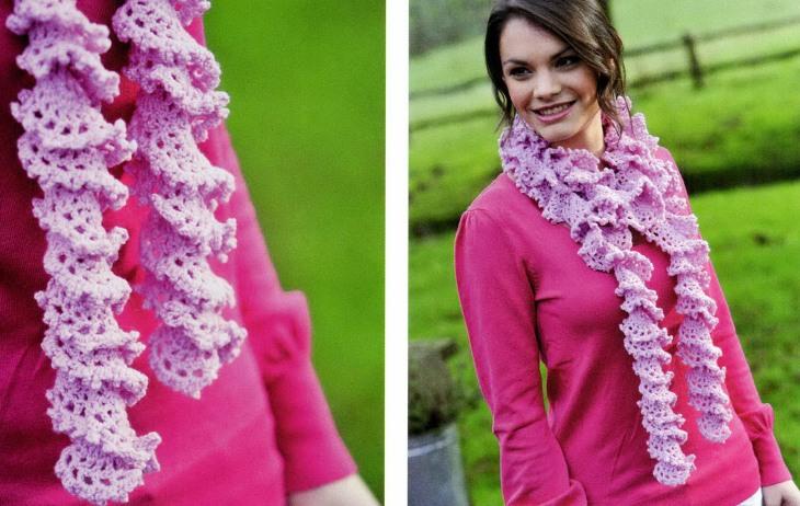 Описание вязания шарфа