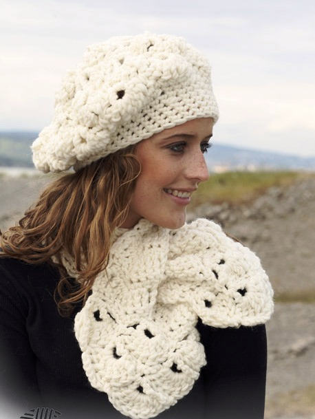 Вязание крючком шарф схема.