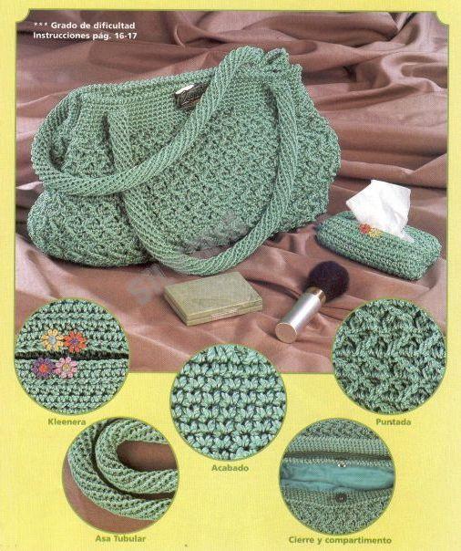 схемы сумок вязанных крючком