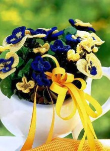 Описание: по вязанию. как связать крючком цветок.