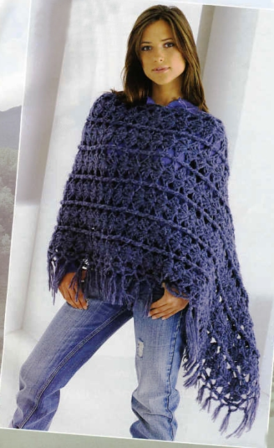 вязание пончо