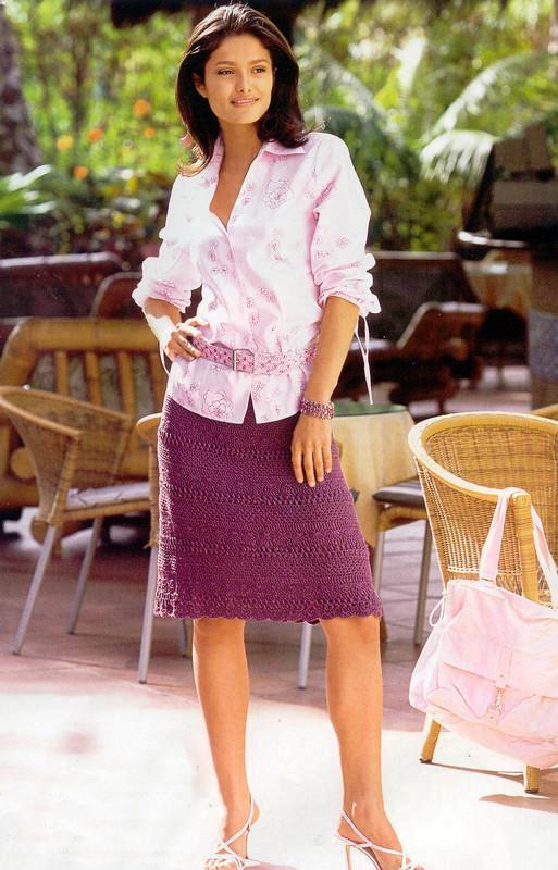 вязание юбка