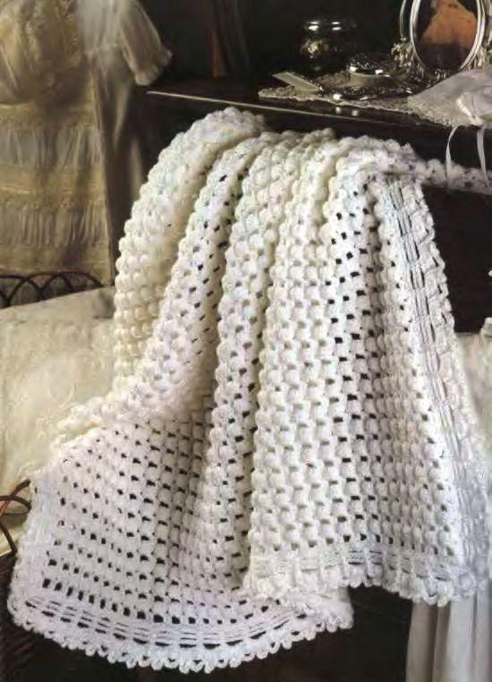 покрывало вязаное крючком