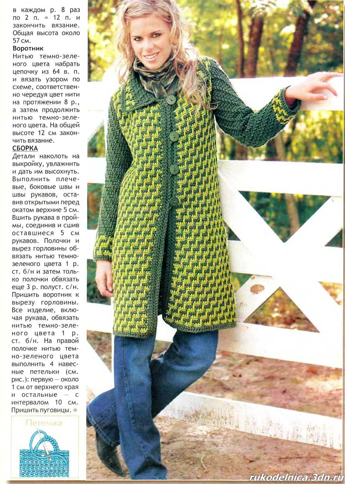 Фото схемы вязания пальто 7