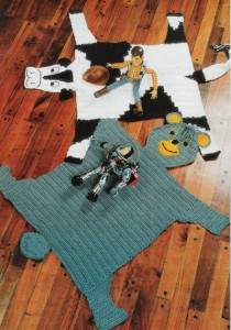 dairy and bear rugs crochet
