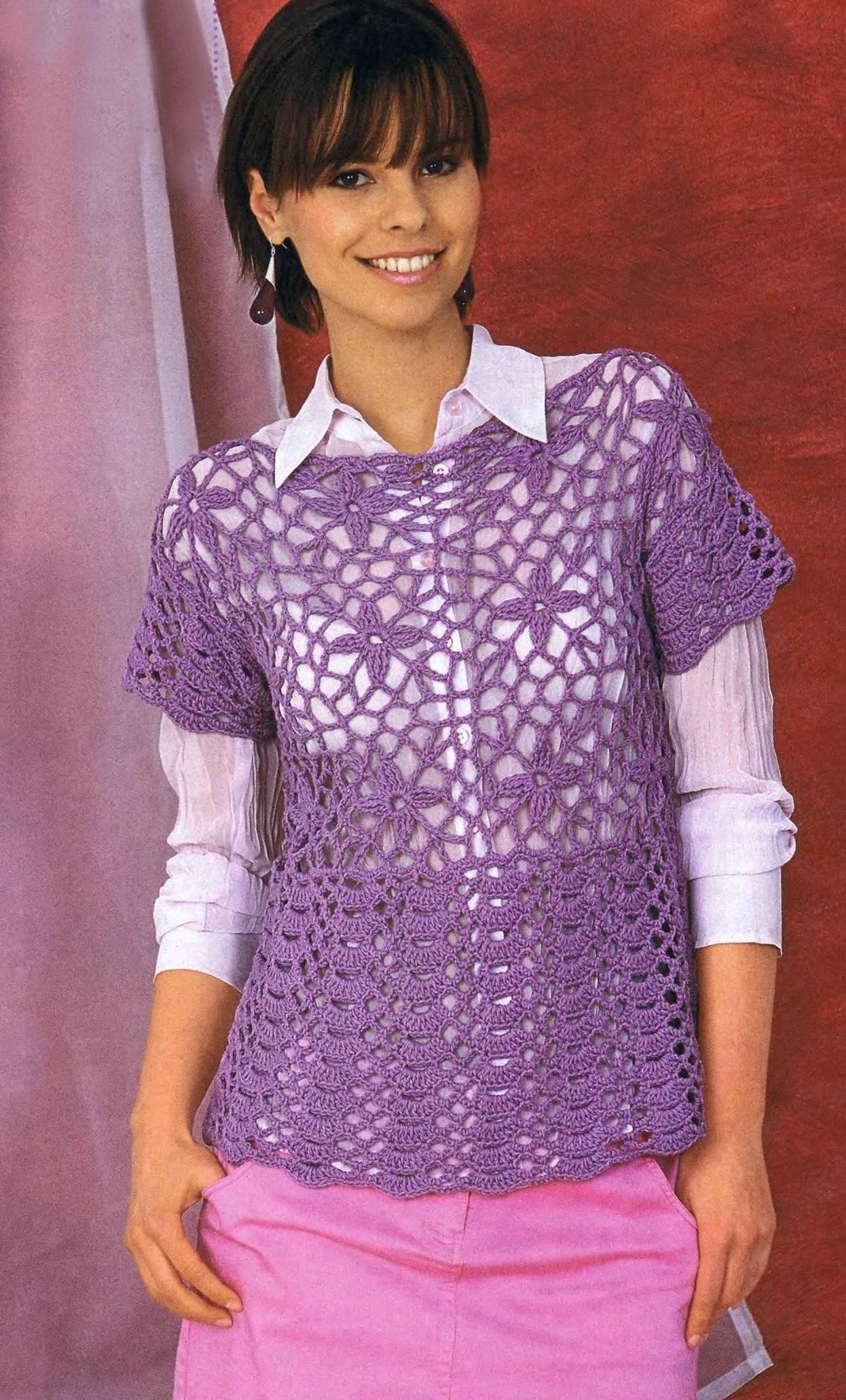 Вязані Блузки Гачком