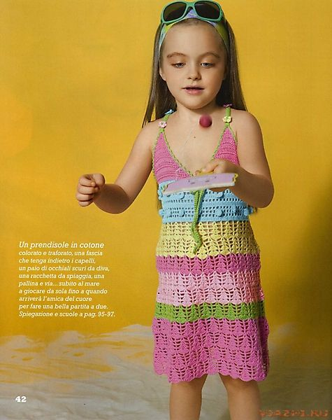 Вязание крючком для детей платья - Фасон.