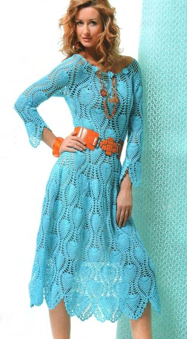 Платья , юбки , сарафаны вязанные крючком, модели платьев и юбок.