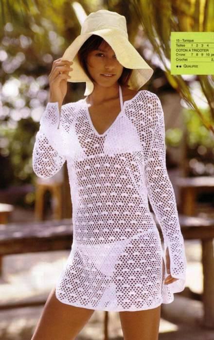 Пляжные вязанные платья крючком. пляжные вязанные платья крючком.