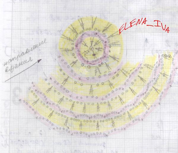 Вяжем махровый цветок по МК О.Кривенко (ЖМ 520).  Украшаем бусинками, пришиваем к шапочке.