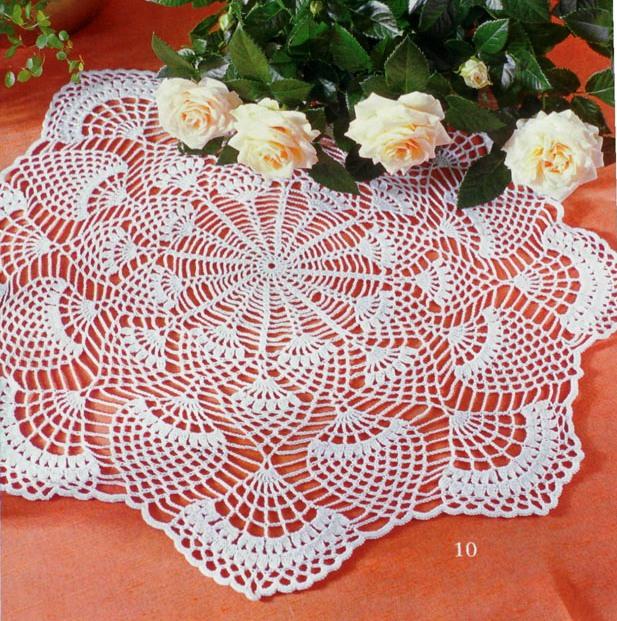 Для вязания салфетки Вам потребуется: 50 гр. хлопчатобумажной пряжи (200м/50 гр.), крючок 1,75-2. салфетки, скатерти.