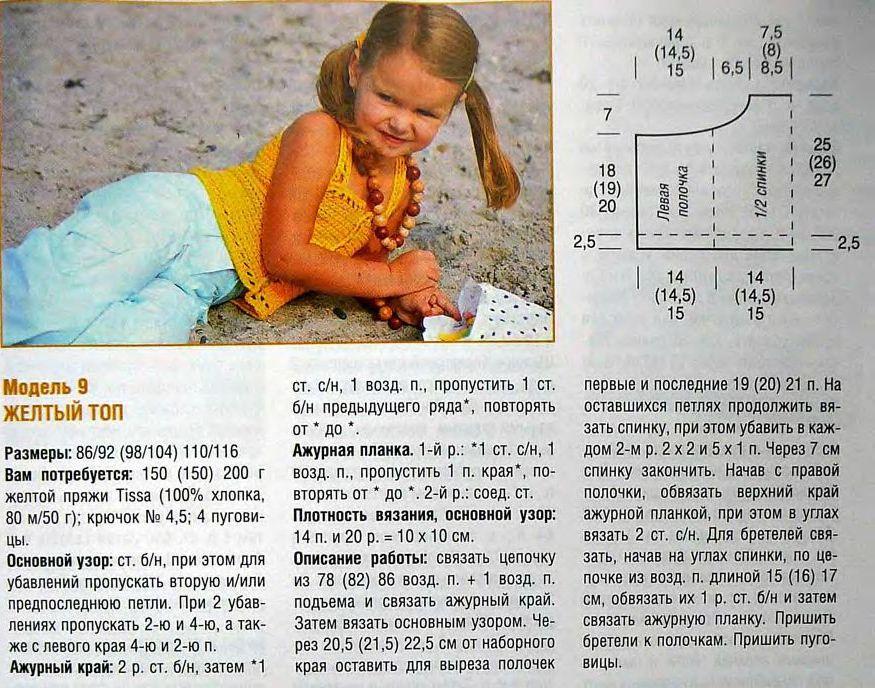 Вязание детских топиков спицами 65