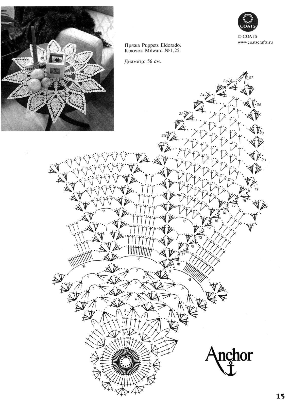 вязание крючком схемы простых салфеток.