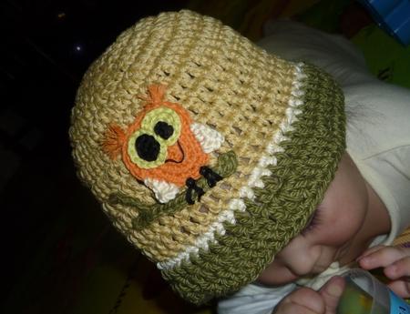 шапочка крючком для девочки на осень - Выкройки одежды для детей и...