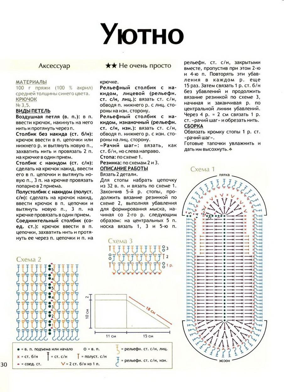 Вязаные тапочки своими руками красивые вязаные тапочки - Схемы вязания.ру.