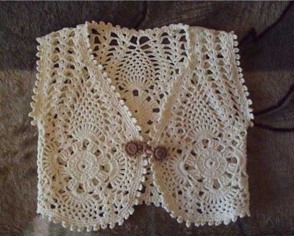Жилет для девочки крючком вязание