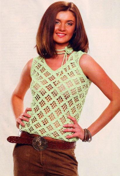 """На нашем женском сайте  """"Дамочка """" Вы в любое время найдете новость - вязание летних маек спицами схемы, с фотографиями..."""