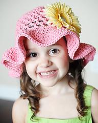 Описание: детские вязаные панамки - Вязание.