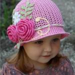 вязаная шляпка на лето
