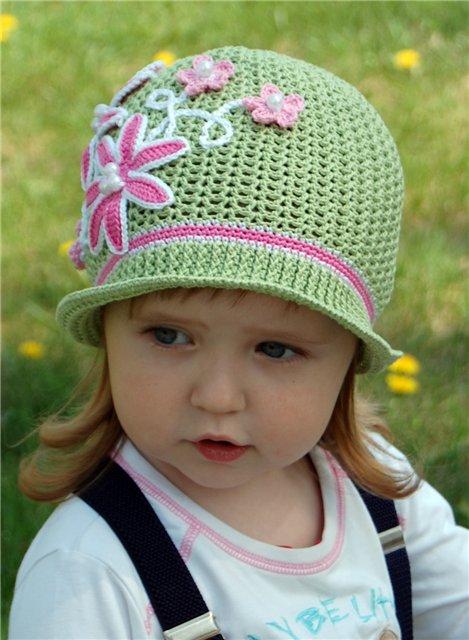 вязание панамки для девочки
