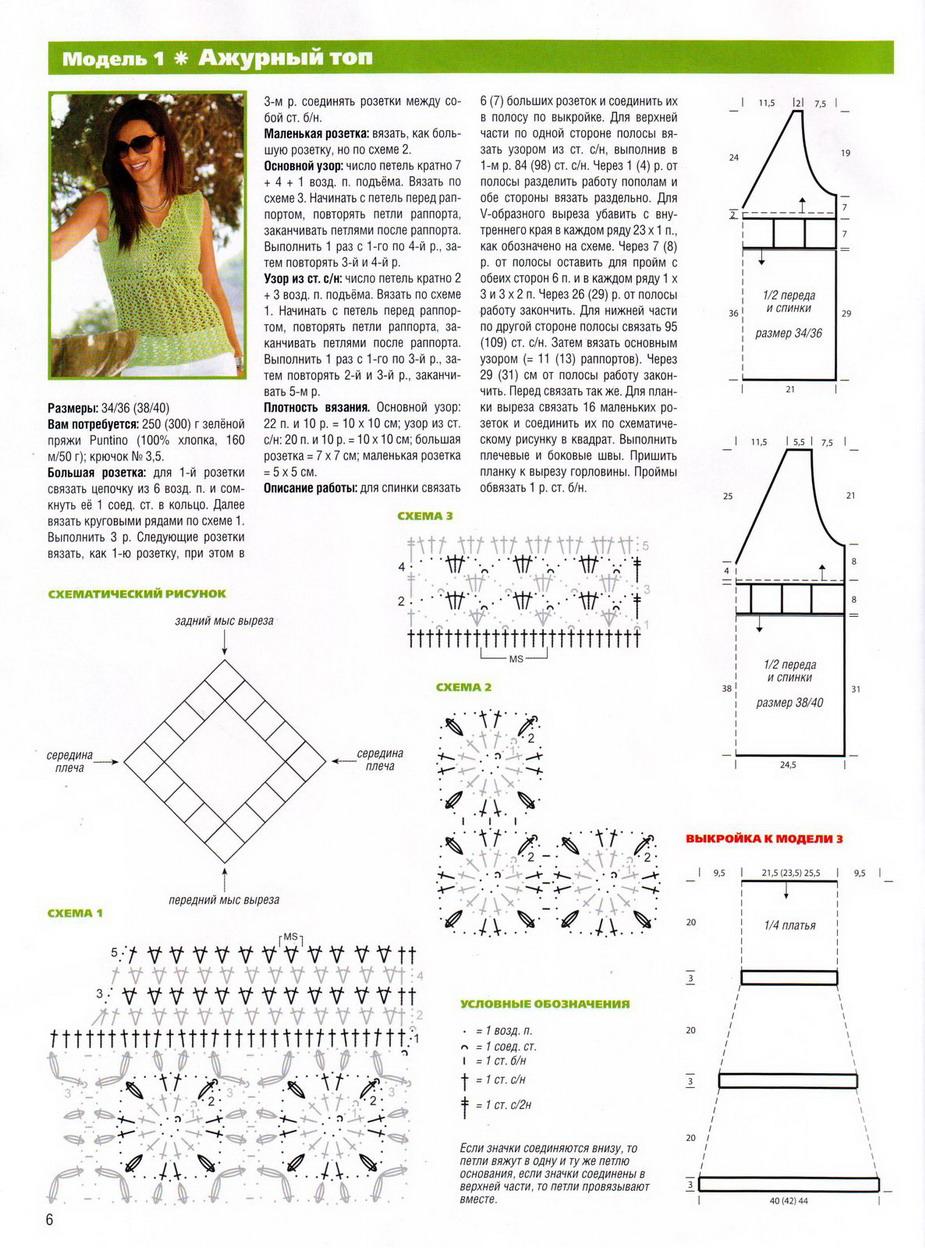 Схемы вязания летних кофточек крючком. Легкие, ажурные