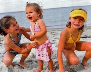 вязаный купальник для девочки