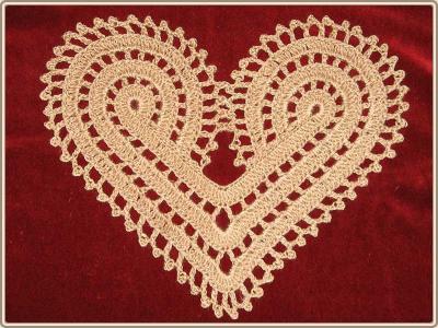 салфетка сердце