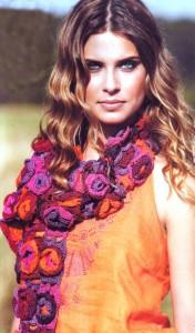 вязаный шарф кючком