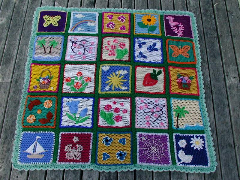 Вязание для детей крючком коврика