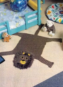 lion rug crochet pattern