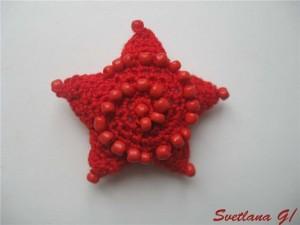 вязание звезд крючком