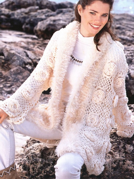 Ladies` Hand Crochet Cardigan (Дамские Рука вязание крючком кардиган.