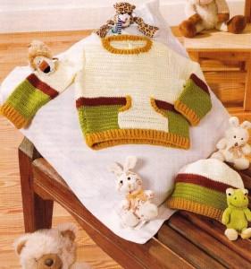 вязаный свитер для малыша