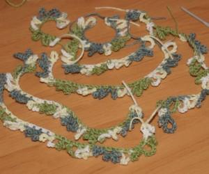 вязаные веточки для елки