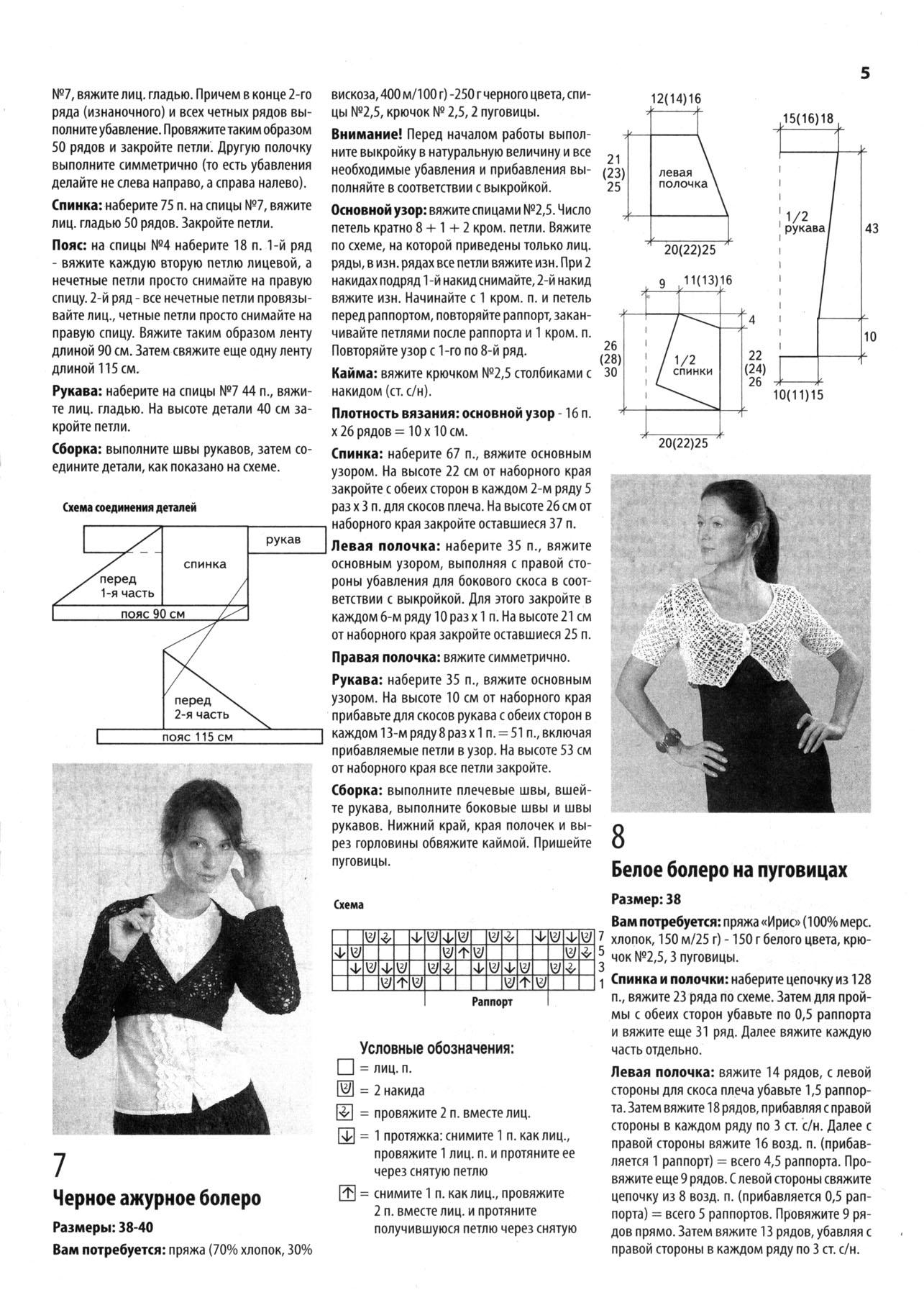 Описание по вязанию ажурного болеро