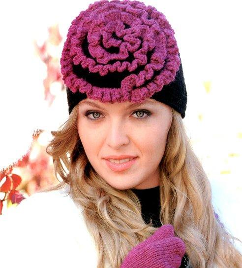 шапочка крючком. вязание шапок