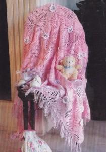 вязаное покрывало для детей