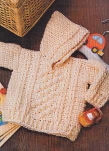 вязаный пуловер крючком для детей