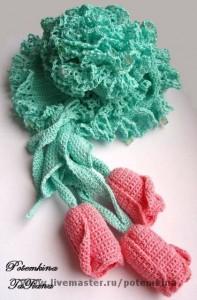вязание авторских шарфов