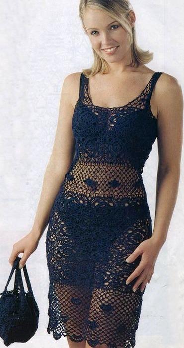 Как связать платье тунику девочке.